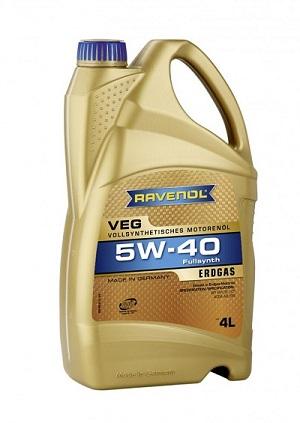 Моторное масло RAVENOL VEG 5W-40 A3/B4 SM/CF для газовых двигателей
