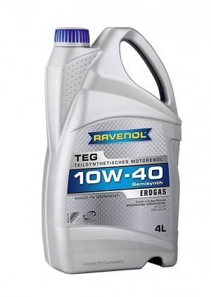 Полусинтетическое масло RAVENOL TEG 10W-40 A3/B4 API SL/CF для газовых двигателей